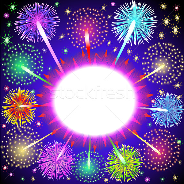 background for message with salute and firework Stock photo © yurkina