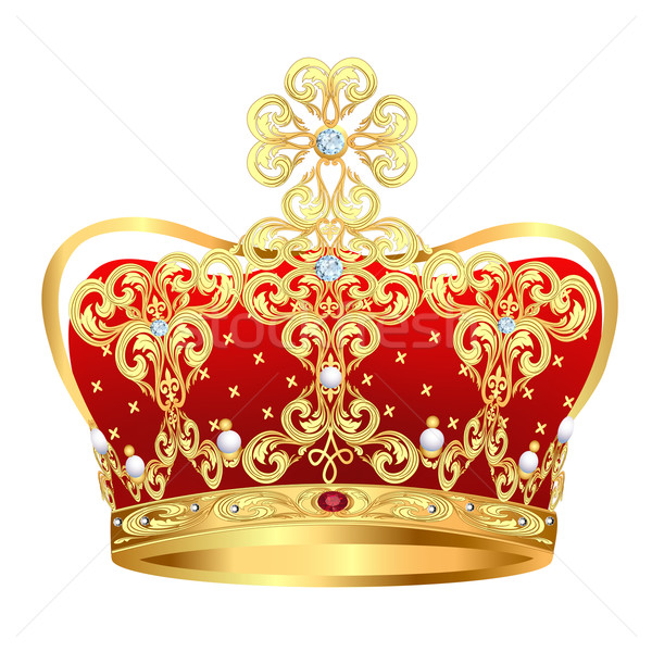royal gold crown with jewels and ornament Stock photo © yurkina