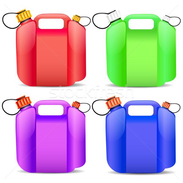 Establecer plástico gasolina contenedor ilustración Foto stock © yurkina