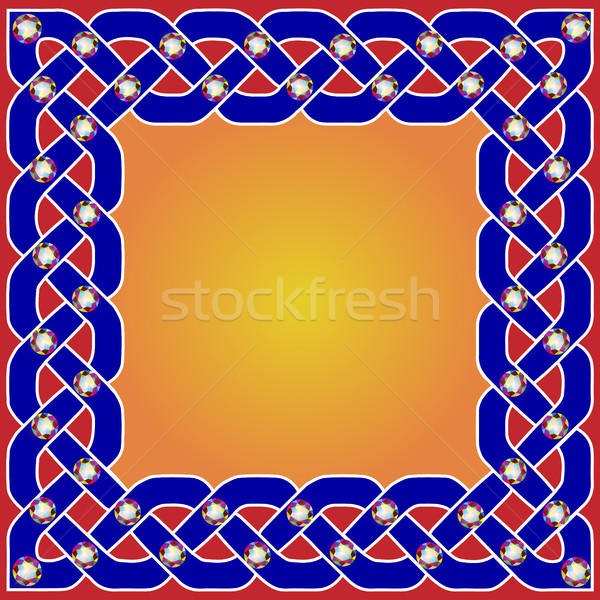 illustration background frame with beautiful Celtic ornaments wi Stock photo © yurkina