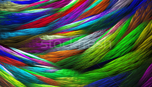 fractal illustration of rainbow colored background knitted weave Stock photo © yurkina