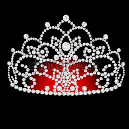 feminine wedding diadem crown on black Stock photo © yurkina