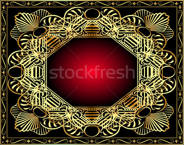 Stock photo: vegetable winding gold pattern