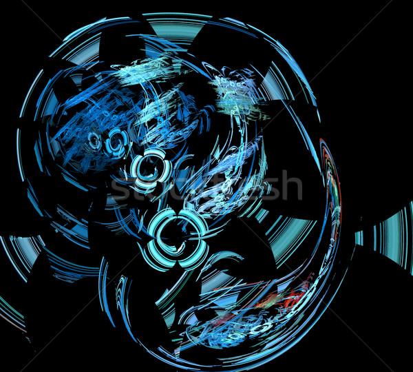 Fractal ilustración técnica líneas círculos luz Foto stock © yurkina