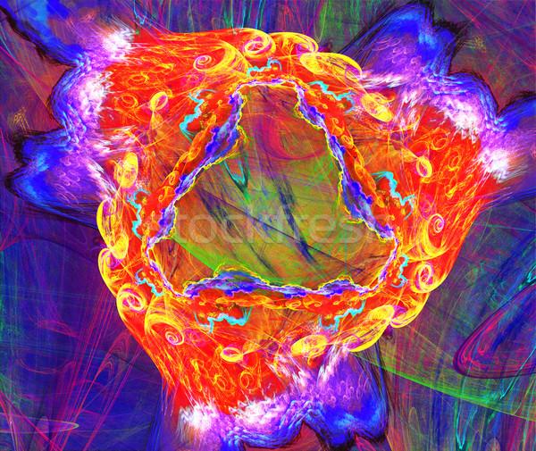 фрактальный иллюстрация аннотация Tech спиральных бизнеса Сток-фото © yurkina