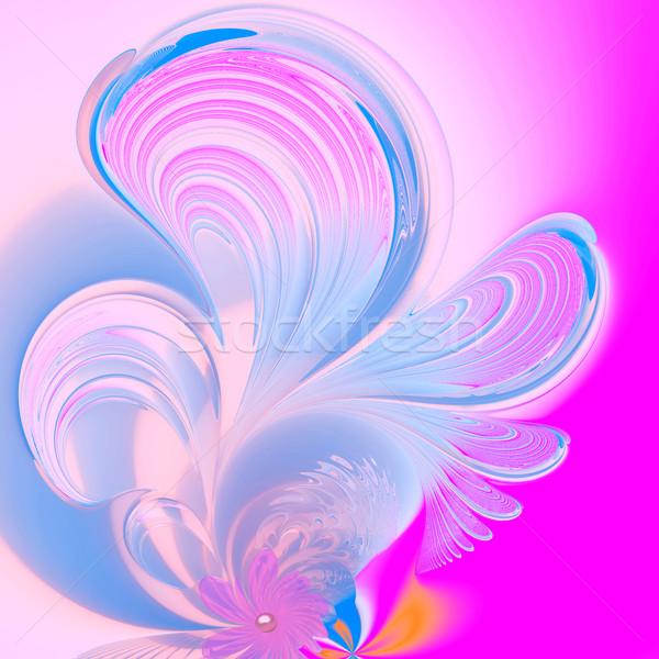 Foto stock: Ilustração · fractal · floral · padrão · abstrato · projeto