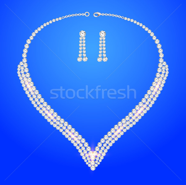 necklace women's wedding with precious stones  Stock photo © yurkina