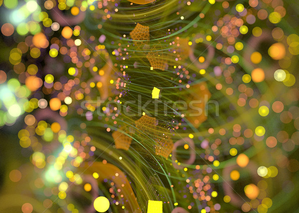 illustration of a fractal background with festive sequins Stock photo © yurkina