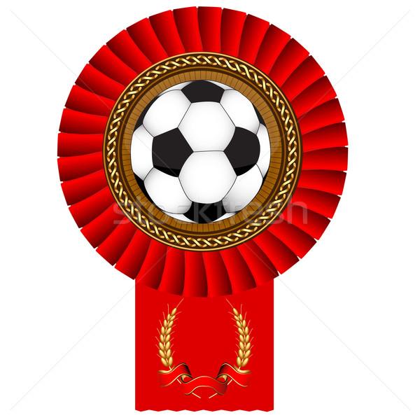 Voetbal bal gouden medaille bureaucratie illustratie computer Stockfoto © yurkina