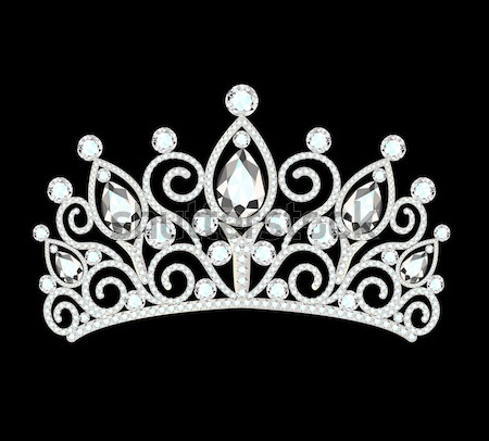 tiara crown women's wedding with white stones Stock photo © yurkina