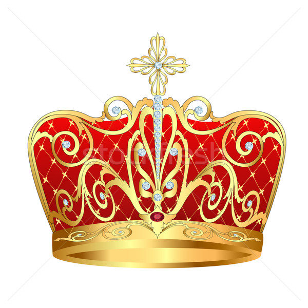 of royal gold crown with jewels Stock photo © yurkina