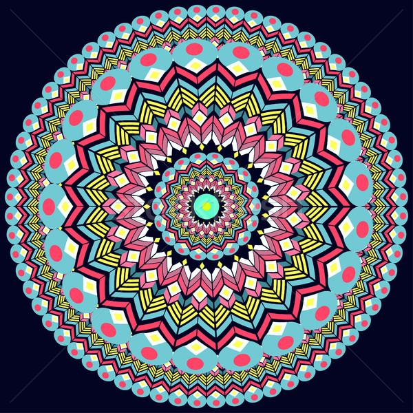 örnek süs model geometrik daire Stok fotoğraf © yurkina