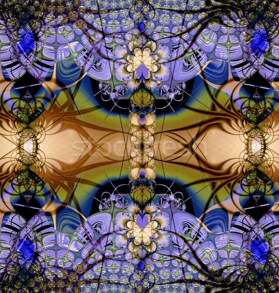 Colorful Fractal Background.  Stock photo © yurkina