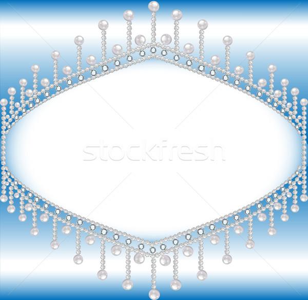 Precioso piedras perlas espacio texto ilustración Foto stock © yurkina