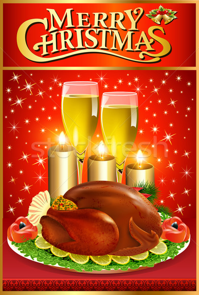 実例 クリスマス グリーティングカード トルコ キャンドル ワイン ストックフォト © yurkina