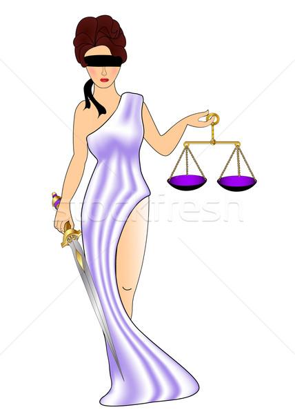 Kobieta bogini sprawiedliwości masy meczet ilustracja Zdjęcia stock © yurkina