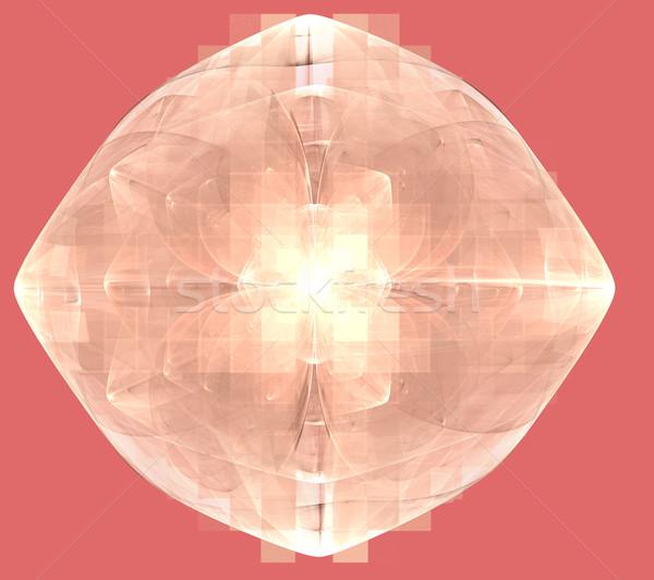 実例 抽象的な フラクタル パターン 正方形 ストックフォト © yurkina