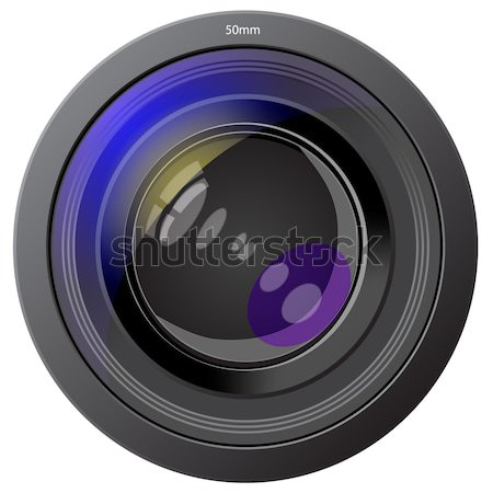 lens photo of the device insulated on white Stock photo © yurkina