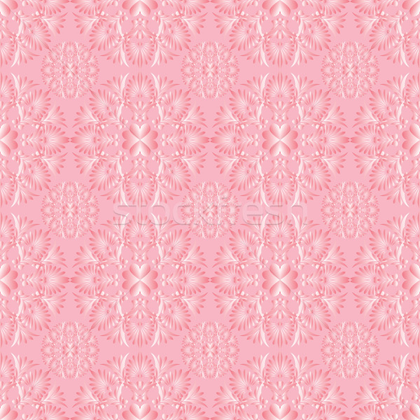 seamless background delicate pink vegetative pattern Stock photo © yurkina