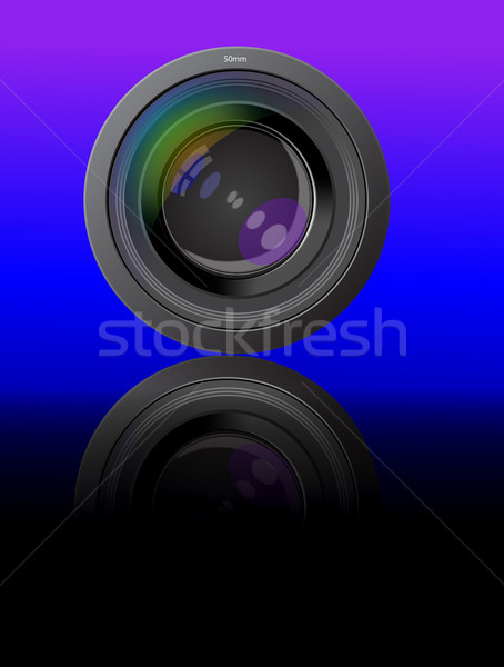 lens photo of the device with reflection Stock photo © yurkina