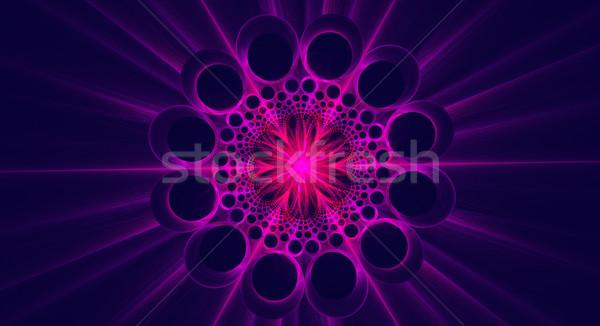 illustration  flower background with lace shines Stock photo © yurkina