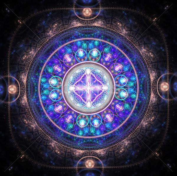 フラクタル 実例 パターン ビーズ 光 背景 ストックフォト © yurkina