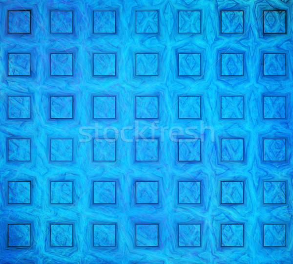 実例 抽象的な フラクタル 青 正方形 ビジネス ストックフォト © yurkina