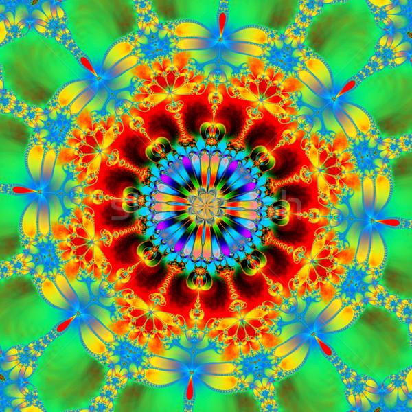 Colorido fractal floral padrão digital Foto stock © yurkina