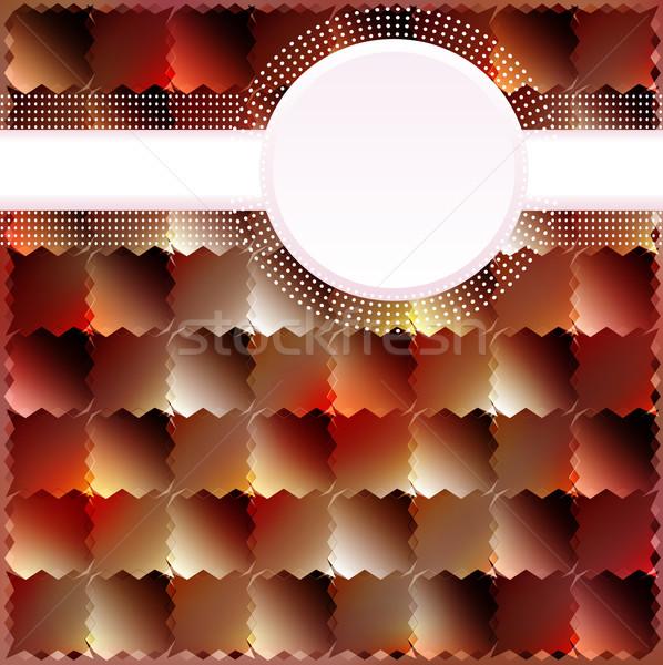 暗い 正方形 サークル 文字 実例 抽象的な ストックフォト © yurkina