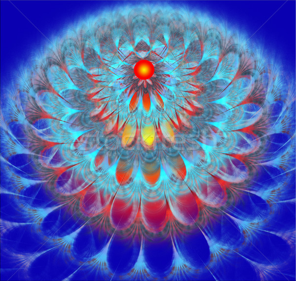 иллюстрация фрактальный ярко одуванчик цветок пушистый Сток-фото © yurkina