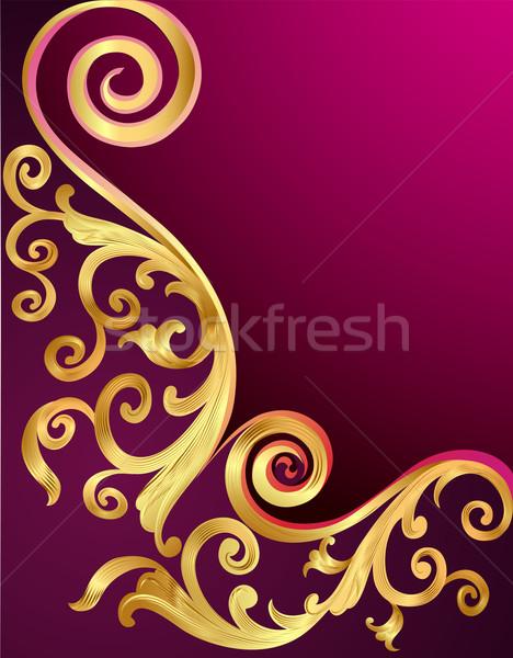 実例 金 パターン 抽象的な フレーム 印刷 ストックフォト © yurkina
