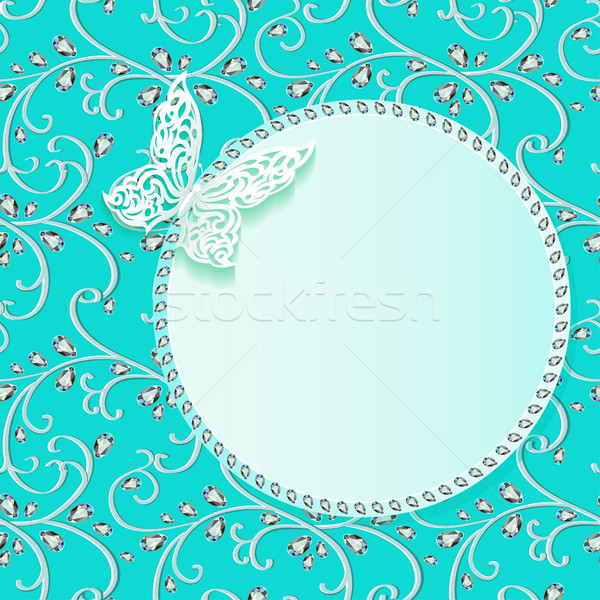 illustration background card with flower lace and delicate butte Stock photo © yurkina