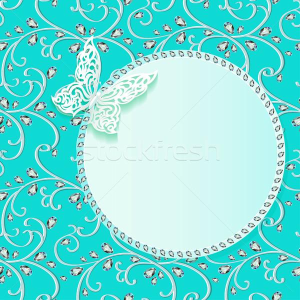 örnek kart çiçek dantel harita soyut Stok fotoğraf © yurkina