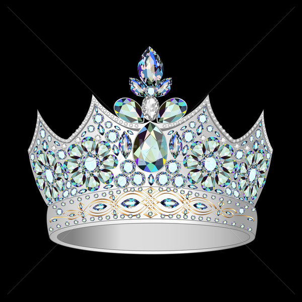 decorative crown of silver and precious stones Stock photo © yurkina