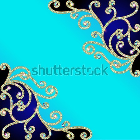 background with a pattern of precious stones and flowers Stock photo © yurkina