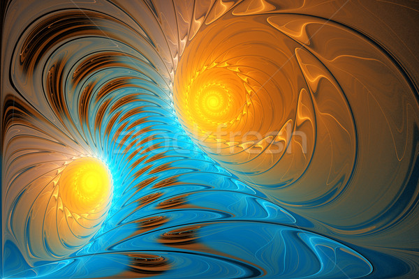 illustration background fractal bright blue tornado sunlit Stock photo © yurkina