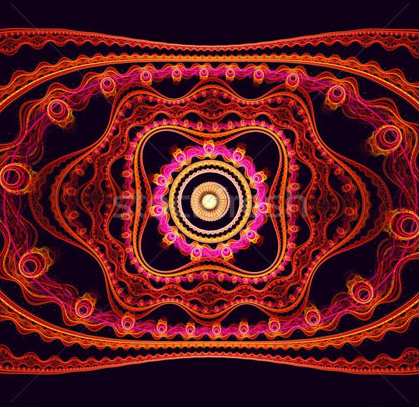 фрактальный иллюстрация ярко цветочный орнамент цветок Сток-фото © yurkina
