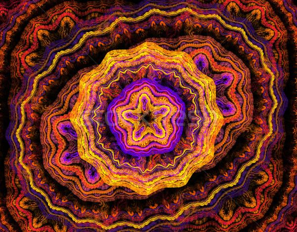 Illustrazione abstract frattale pizzo floreale pattern Foto d'archivio © yurkina