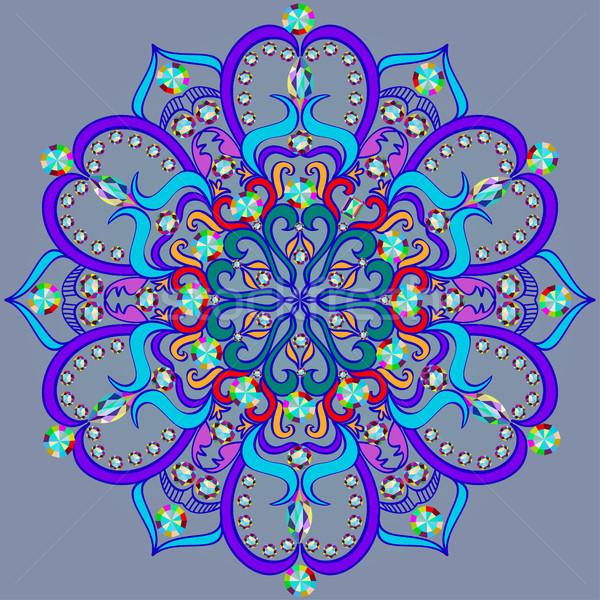 Ilustracja jasne mandala wzór kamieni sztuki Zdjęcia stock © yurkina