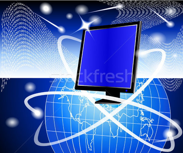 Moderna potente ordenador mundo ilustración resumen Foto stock © yurkina