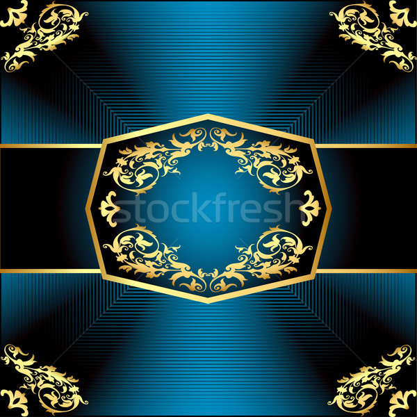 a gold background a frame with a vegetative ornament Stock photo © yurkina