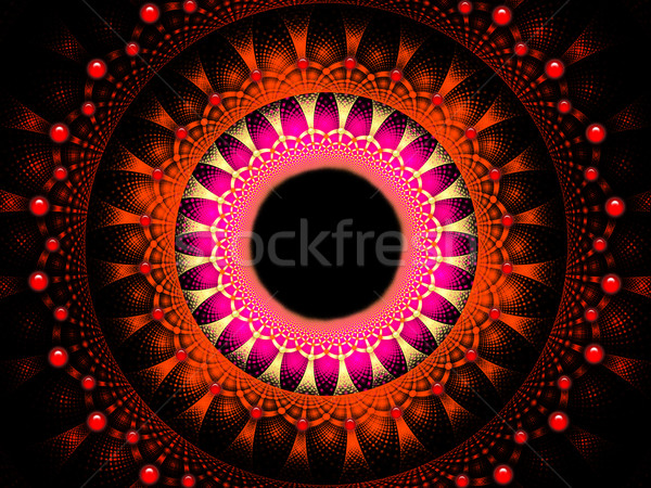 Illustration fractal background with a pattern and pearls Stock photo © yurkina