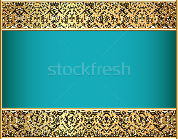 Celtic wzór złota ilustracja moda streszczenie Zdjęcia stock © yurkina
