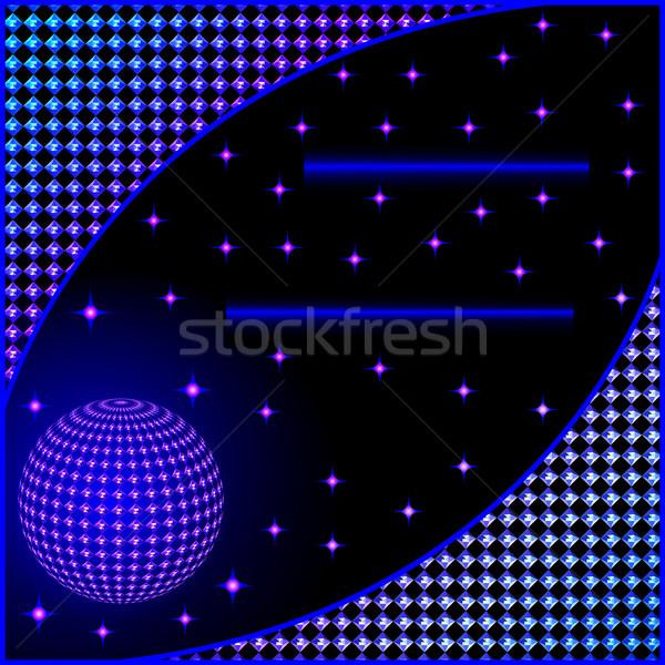 Digital estrellas pelota ilustración negocios ordenador Foto stock © yurkina