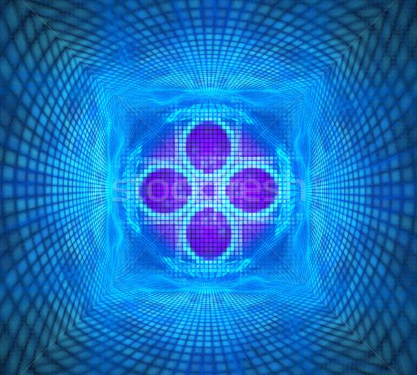 illustration fractal ornament background bright pattern of squar Stock photo © yurkina