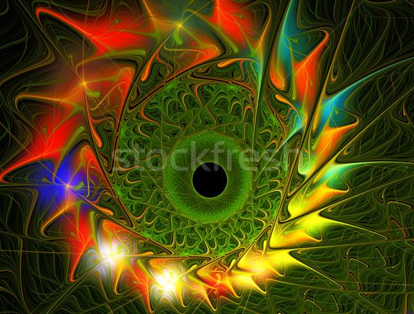 Fractal ilustração brilhante verão girassóis beleza Foto stock © yurkina