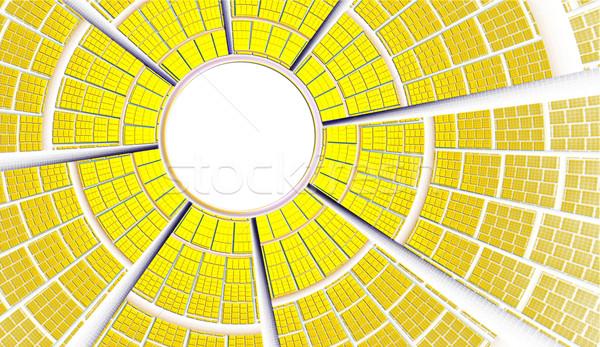 Illustration fractal background frame bright sun rays Stock photo © yurkina