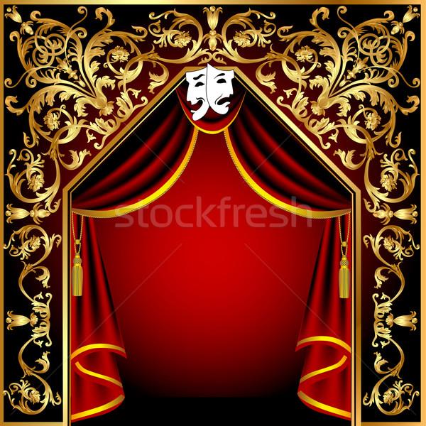 Teatrale sipario pattern illustrazione spazio Foto d'archivio © yurkina
