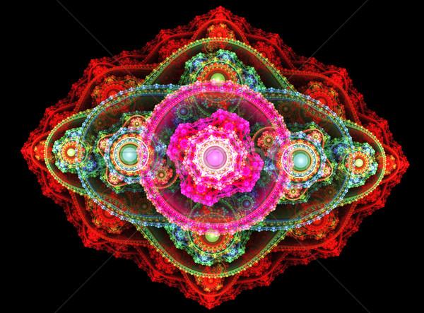 Ilustração fractal floral padrão luz fundo Foto stock © yurkina