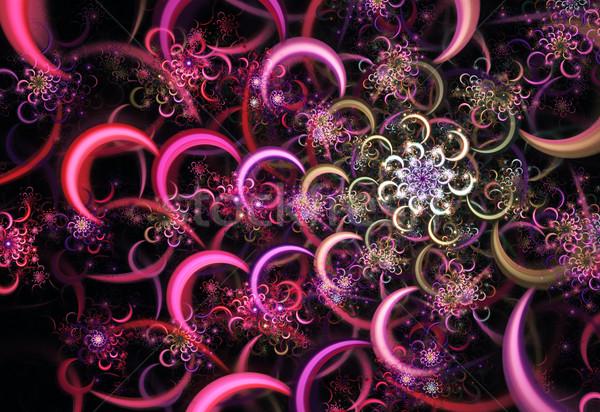 Illustratie abstract fractal ontwerp bloem Stockfoto © yurkina